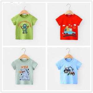 high quality camisetas infantis de algodão, camisetas de verão para meninos, manga curta, roupas infantis, tops 4018 41