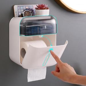 Suporte à prova d 'água Montagem de papel higiênico prateleira banheiro Dispenser Dispenser Rolo de papel de armazenamento Caixa de armazenamento Bedroast Tray1