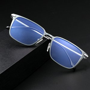 Aluminum Alloy Optical Frame Prescription Anti-blue Eyeglasses Business Glasses