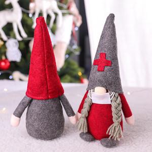 الحجر الصحي عيد الميلاد الدمى الديكور الحلي هدية شخصية عائلية اسم حلية جائحة عيد الميلاد لعبة تزيين HHB2429