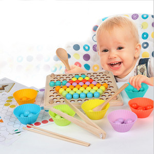 Kids Toys Montessori Wooden Toys Hands Brain Training Clip Beads Puzzle Board Math Game Baby Early Educational Toys For Children LJ200922