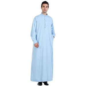 Ethnic Clothing Dress Men Muslim Saudi Arab Men's Islam Pakistan Caftan Shalwar Hijab Islamic Robes Jalab1