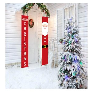 Merry Christmas Hanging Door Banner Ornaments Christmas Decorations For Home Indoor Outdoor Xmas Decor 2020 New Year Natal 2021