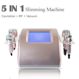 40K Ultrasonic Cavitation 5in1 Bipolar Cavitation Cellulite Removal Face Body Slimming Machine Vacuum Weight Loss Beauty Equipme