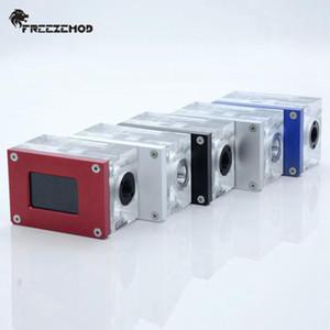 FREEZEMOD LSJ-ZN PC Water Cooler ligent Computer Flow Speed LCD Temperature Detection Water Cooler Flow Meter