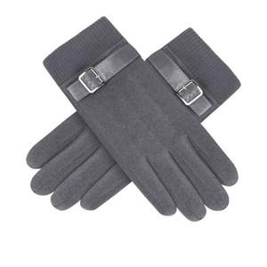 Homens luvas de inverno tela toque luvas luvas morno luvas dedo luva dedo moda moda pelúcia dentro luva casual maciço mittens ewd2112