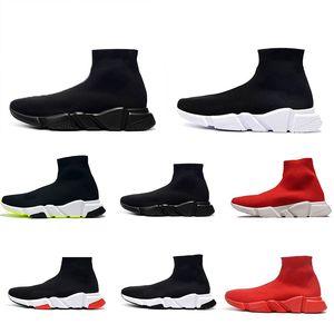 Balenciaga Sock shoes Luxury Brand Designer shoes casual Triple Negro Blanco Gris Tamaño de neón de la pasa para hombre de las zapatillas de deporte 36-47 estilista