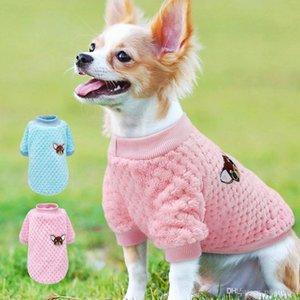 لطيف للكلاب الصغيرة chihuahua yorkies الصلصال الملابس معطف الشتاء الكلب الملابس الحيوانات الأليفة جرو سترة روبا بيرو الوردي S-2XL