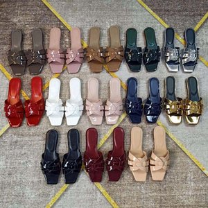 أزياء المرأة الأحذية الصنادل الشرائح الصيف الشقق مثير حقيقي الجلود منصة الصنادل الشقق أحذية السيدات شاطئ الأحذية SH008 Y01