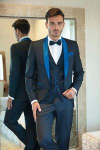 Men's Suits & Blazers 2021 Handsome Arrival Groom Tuxedos Notch Lapel Suit Beige Groomsmen  Man Wedding Prom (Jacket+Pants+Tie)