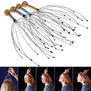Cuerpo antiestrés Octopus Scalp Cuello de cuello Equipo de estrés Relaje Massager Tens Dolor Relief Head Care