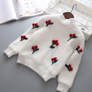 Children Autumn Winter Knitting Baby Infants Knitwear Velvet Thicken Girls Princess Pullover Outwear Camisola Sweater S79411