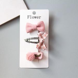 Acessórios mantilha New Handmade Bow Butterfly Pin Cabelo Ring Set Acessórios de cabelo menina pai-filho infantil de alta qualidade mantilha 1