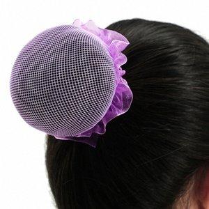 Nuevas muchachas Headwear Bun cubierta danza del ballet de patinaje brazoladas redecilla Bun cubierta Crotchet red de pelo de Headwear de la bailarina Accesorios elegante Ha ehhu #