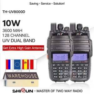 2 adet TYT TH-UV8000D Walkie Talkie 10 km Çift Band VHF UHF 10W Radyo 10 km 3600mah Cross Band Repeater Fonksiyonu TH UV800D 8000E 201112