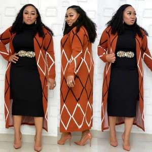 New African Abbigliamento Abbigliamento dashiki Robes Fashion Knit Maglione Suit Skirt Slim Size Turtleneck Stretch Stretch Two Piece Set gratis Dimensione 1
