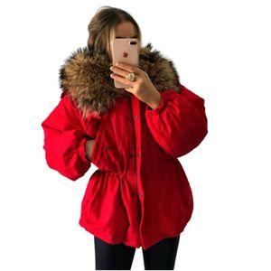 Giacca da donna con collo in pelliccia di pelliccia con cerniera a maniche lunghe con cerniera con cordoncino