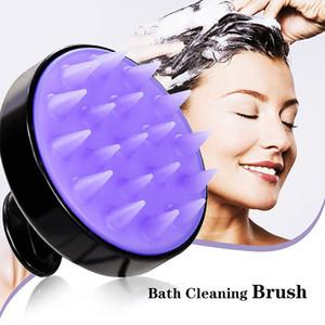 Weiche Silikon-Shampoo-Bürste 13 Farben Bad Massagebürste Haushaltsbad Silikon Haarbürste Freies Verschiffen
