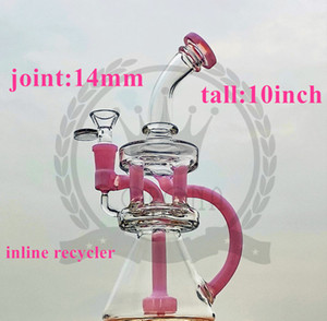 BEAKER BONG WITH METALLIC TERMINATOR FINISH RAINBOW CHAMPAGNE COLOR BIG THICK GLASS WATER PIPE