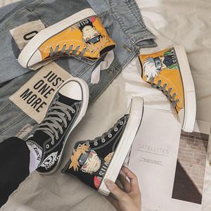 Diseñador de zapatos de lona del animado de Naruto Sasuke hombres civilizados Zapatos Kakashi Sneaks Gamadara Dolor Escuela de Cosplay zapatos del recorrido al aire libre