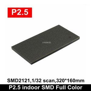 عرض P2.5 Indoor SMD2121 كامل اللون LED الوحدة 1/32 مسح 320x160mm عالية الوضوح RGB فيديو الجدار لوحة 1