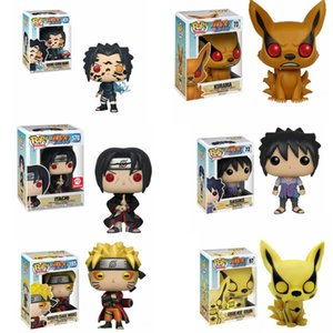 Funko Pop Naruto Uzumaki Itachi Uchiha Sasuke Curse Mark Kyuubi Kurama Mode Kurama Wood Lews Collection Модель Действия Фигурные игрушки X0121