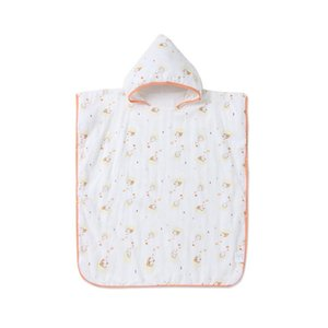 Beibei Xuan Baby Bamboo Fiber Gauze Hooded Bathrobe Pajamas Baby Children Male Treasure Female Treasure Maternal and Infant Supplies