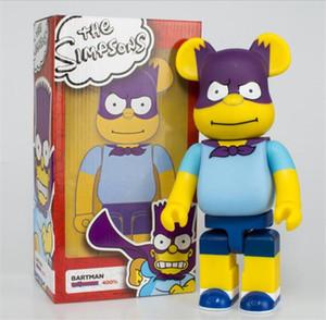 Best-seller 400% 28 cm The Bearbrick Simpsons Evade Colla Orso figure giocattolo per i collezionisti Be @ rbrick Art Work Lavoro Decoration Toys