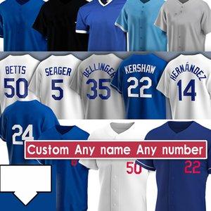 35 Cody Bellinger 50 Mookie Betts Jackie Robinson Clayton Kershaw Corey Seaver Walker Buehler Justin Turner Custom Baseball Jerseys