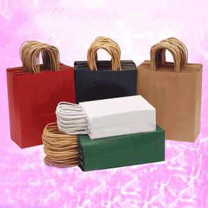 Papierhandtaschen-Geschenk-Beutel-Verfassungs-Kosmetik Universal-Verpackung Einkaufspapiertüten 11 Farben 5 Größen für wählen AHF2398