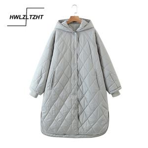 HWLZLTZHT High Quality Winter Jacket Women Plus Size Long Fashionable Women's Winter Coat Hooded Warm Down Jacket Parka 201020