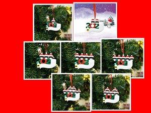 Рождественский орнамент для черновой семьи день рождения украшения кулон 2020 Карантин Семья из 1-7 висит орнамент пандемии ручной дезинфекции
