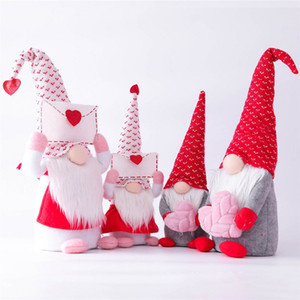 Gnomes Santa Cloth Dolls Envelope Love Faceless Gnome Favors For Birthday Present Home Valentines Day Decorative Doll Ornaments M3211