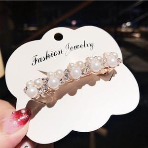 Elegant Women Pearl Crystal Barrettes Hair Clips Bridal Headwear Hairpins Headbands Hair Holder Jewelry Accessories Q bbytvn