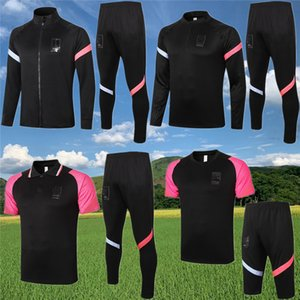20 21 Coreia do POLO Jacket conjunto de treinamento de futebol survêtement 2020 2021 Kang-in Lee POLO jaqueta com capuz fato de treino correr terno dos esportes