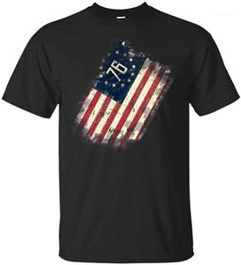 Betsy Old Glory Americana Ross EUA Flag T Shirt Homens Mulheres 13 Colônias Estrelas 1776 Bandeira Engraçado Design Tops Tshirts1
