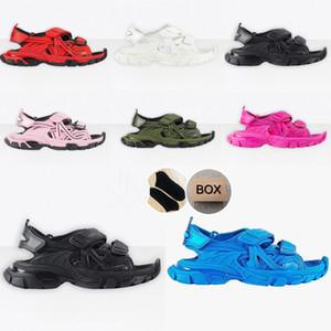 Сандалии 2020 треков 3.0 тапочки розовые белые мужчины женские следы слайд сандалии сандалии спортивные платформы износостойкие женские тройные Snearkers обувь