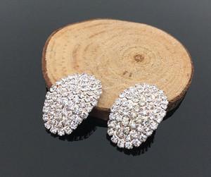 Bantlar Hediye Kutusu Dekorasyon f271 # için Rhinestone Düğme Kristal Bezeme DIY Düğme Aksesuar