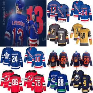 New York Rangers 13 Alexis Lafreniere 24 Kaapo kakko 10 Panarin Toronto Maple Leafs 97 Joe Thornton de los diablos 86 jerseys de hockey Jack Hughes