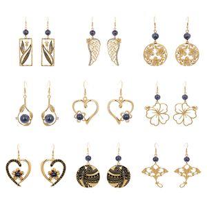 Earrings of Gold Plated Hawaiian Pearl Earring jewelry Set Geometric Drop Heart Flower Hawaiian Earring For Women Gifts