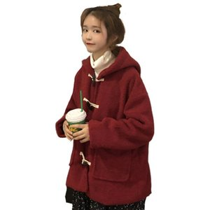 Winter Warm Women Sweatshirts With Buttons Autumn Ladies Long Sleeve Pocket Hoody Female Velvet Outwear Oversize Clothing