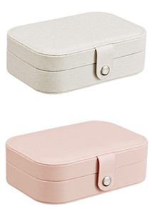 Storage Box Travel Jewelry Boxes Organizer PU Leather Display Storage Case Necklace Earrings Rings Jewelry Holder Case Boxes Free Shipping