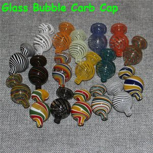25mm Spinning Glass Carb Cap for Quartz Terp Slurper banger Flat Domeless Quartz Nail Glass Beads Ball hole Caps Thick Glass Water Pipes