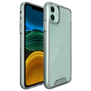 SPACE Transparent Rugged Phone Case Clear TPU PC Shockproof Cover For iPhone 12 12 Pro 12 Pro Max