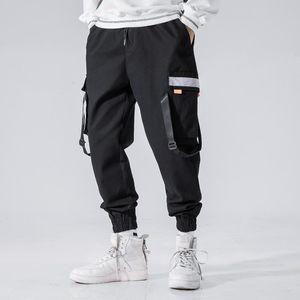 Stil Männer Hip Hop Haremshosen Kleidung Mens Casual Taschen Cargo Pants Male japanische Street Hosen