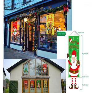 1 stücke elf girlande frohe weihnachten dekorationen für hause weihnachtsornamente tür dosal wand tuch weihnachten neues jahr dekor1