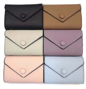 Designer Wallet leather multicolor coin short wallet Polychromatic purse lady