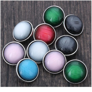 10pcs lot Mixed 18mm Colorful Snap Buttons Jewelry Resin Stone Buttons Snaps Charms Fit Snap Bracelet Bangles For Wom jllTLH