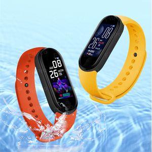 M5 Smart Bluetooth Sports Bracelet Heart Rate Blood Pressure Calculator Watch Pressure Fitness Tracker Smart Watch With Watch