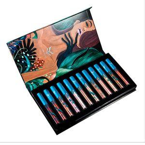 12 Pcs Set Lip Gloss Glitter Matte Gloss Matte Liquid Lipstick Hot Sale Sexy Colors Lip Tint Stain Lips Makeup Lipgloss